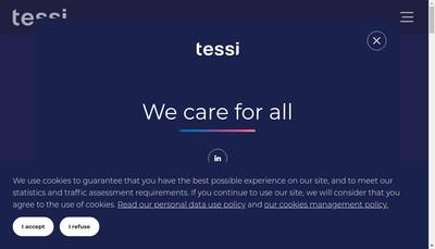 Site internet de Tessi Encaissements