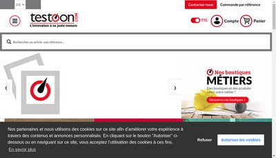 Site internet de Testoon
