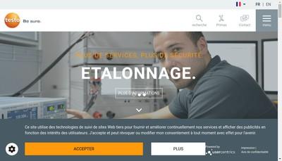 Site internet de Testo Industrial Services