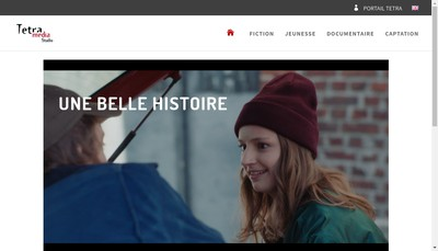 Site internet de Tetra Media Fiction