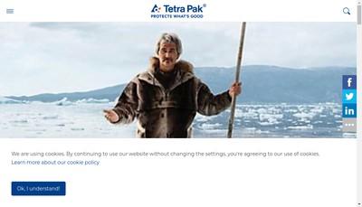 Site internet de Tetra Pak Service