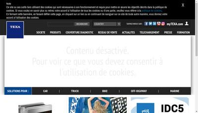 Site internet de Texa France SARL