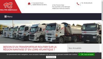Site internet de Tg SA