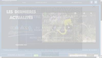 Site internet de Thalassa-Aquarium