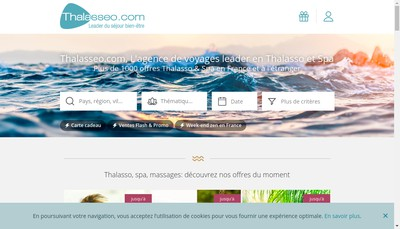 Site internet de Travelspa
