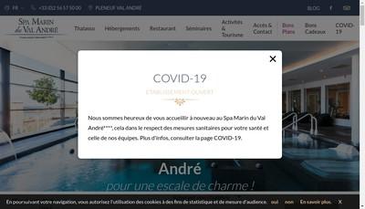 Site internet de Spa Marin du Val Andre