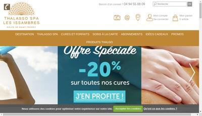 Site internet de Thalasso les Issambres