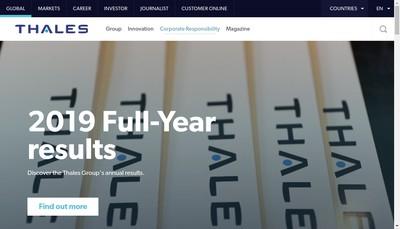 Site internet de Thales Services Numeriques SAS