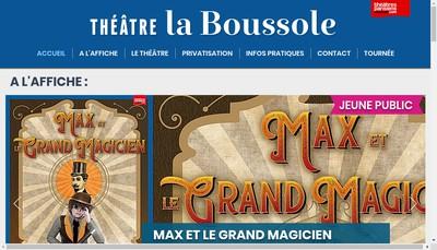 Site internet de Theatre la Boussole