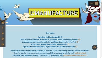 Site internet de Theatre de la Manufacture