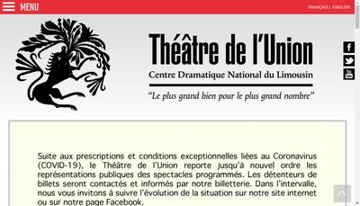Site internet de Theatre de l'Union