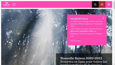Site internet de Societe Immob Theatre Champs Elysees