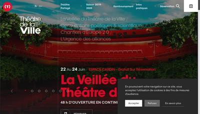 Site internet de Theatre de la Ville