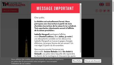 Site internet de Nouveautes Theat