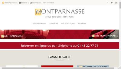 Site internet de Societe du Theatre Montparnasse