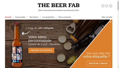 Site internet de Brasserie Bos