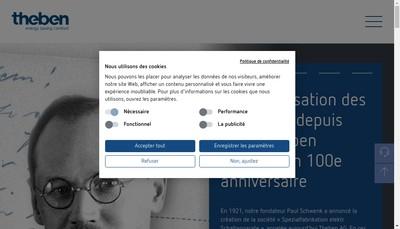 Site internet de Theben