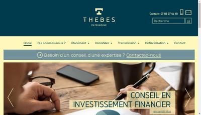 Site internet de Thebes Patrimoine