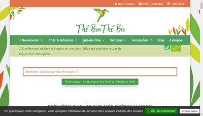 Site internet de The Bon The Bio