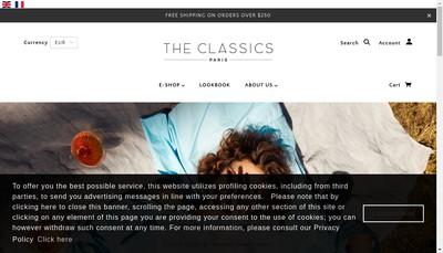 Site internet de The Classics