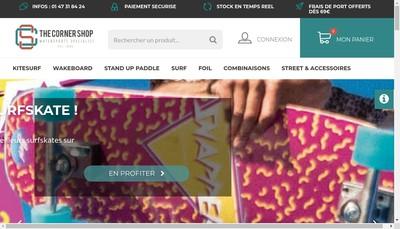 Site internet de Corner Shop