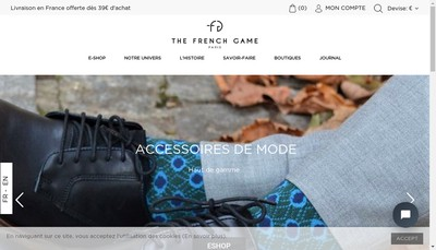 Site internet de The French Game