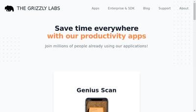 Site internet de The Grizzly Labs Paris