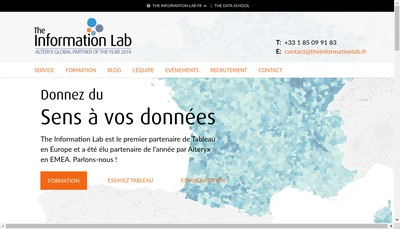 Site internet de The Information Lab