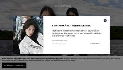 Site internet de The Kooples Production