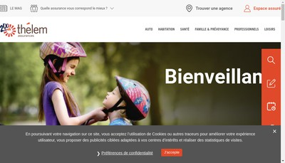 Site internet de Agence Thelem Assurances