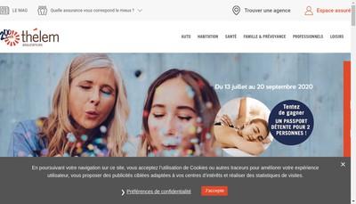 Site internet de Thelem Assurances