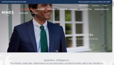 Site internet de Ciseaux d'Argent la Maison de la Chemise