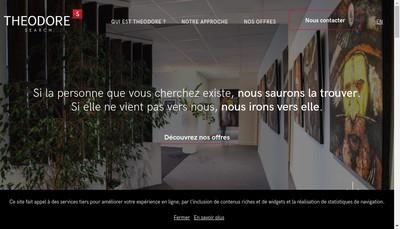 Site internet de SARL Theodore Search