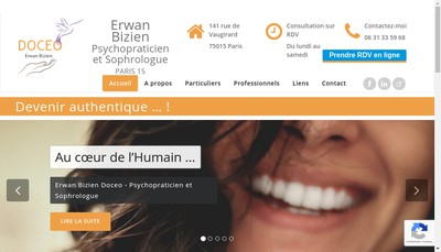 Site internet de Erwan Bizien Doceo