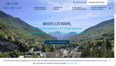 Site internet de Societe des Etablissements Thermaux de Brides les Bains et Salins les Thermes