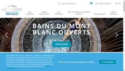 Site internet de SA Thermes St Gervais les Bains le Fayet
