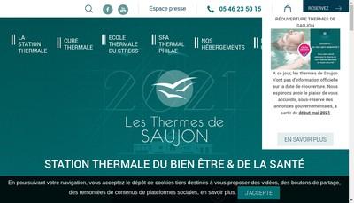 Site internet de Thermes de Saujon