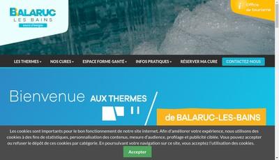 Site internet de Societe Publique Locale d'Exploitation des Thermes de Balaruc les Bains
