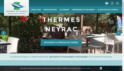 Site internet de Societe des Thermes de Neyrac les Bains