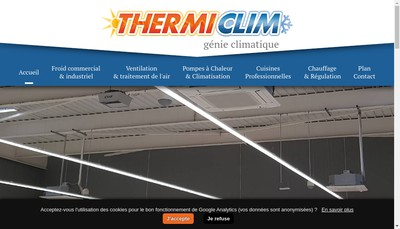 Site internet de Thermiclim SARL