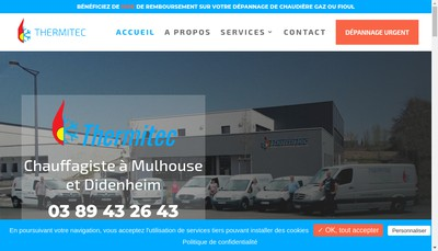 Site internet de Thermitec