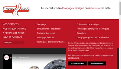 Site internet de Thermo-Clean Rhone-Alpes