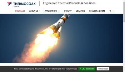 Site internet de Thermocoax Developpement