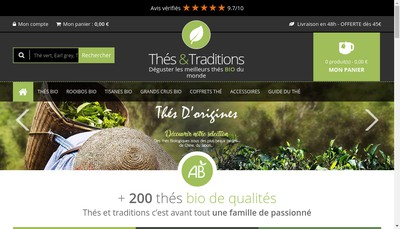 Site internet de Thes & Traditions