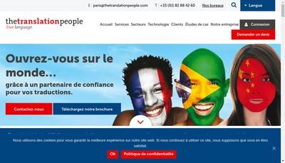 Site internet de The Translation People