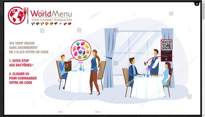 Site internet de The World Menu