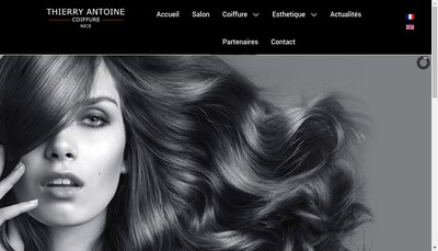 Site internet de Antoine Coiffure