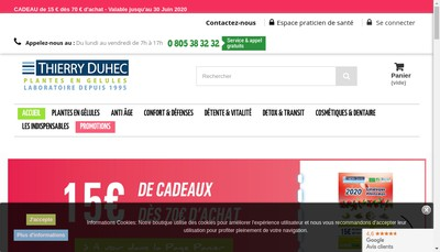 Site internet de Thierry Duhec