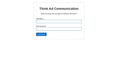 Site internet de Think Ad Communication