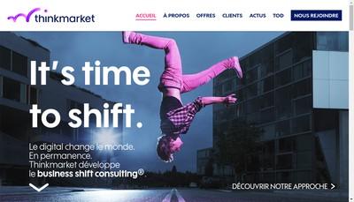 Site internet de Thinkmarket